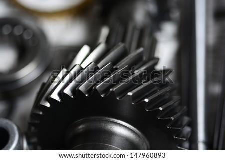 Large cog wheels in the motor. #147960893
