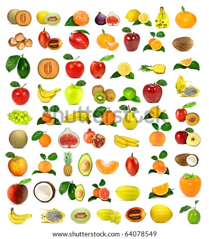 large collection of fruit