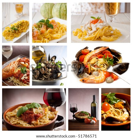 large collection of italian pasta recipe