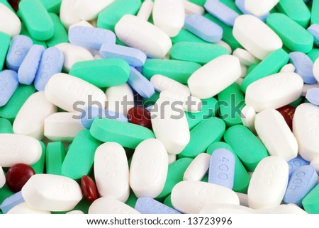 Large combination of medications and vitamins