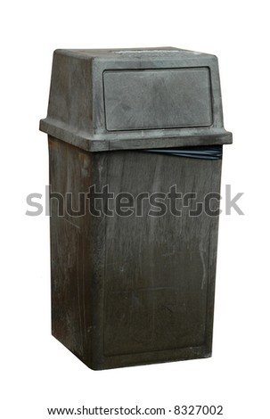 large commercial garbage bin isolated on white background