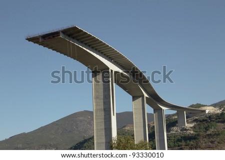 large concrete bridge under construction