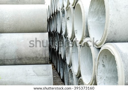 Large Concrete Construction Pipes for Underground Water Images and
