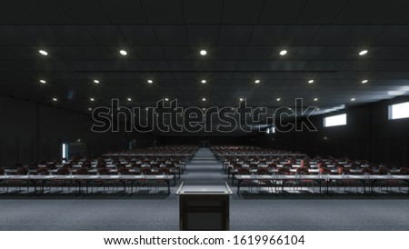 Large conference room for presentations and lectures Stock photo ©