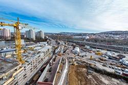 Large construction site