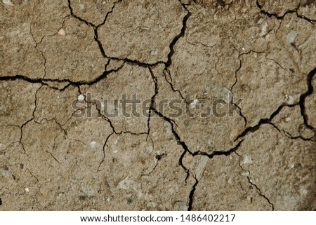 Large cracks in the ground, dry ground #1486402217