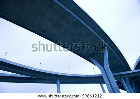 LARGE crossing highway overhead