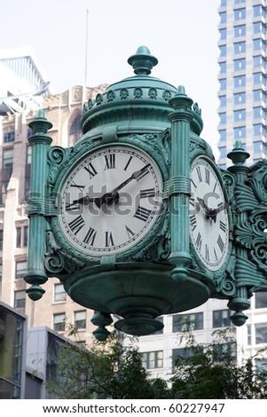 Large decorative clock in Chicago