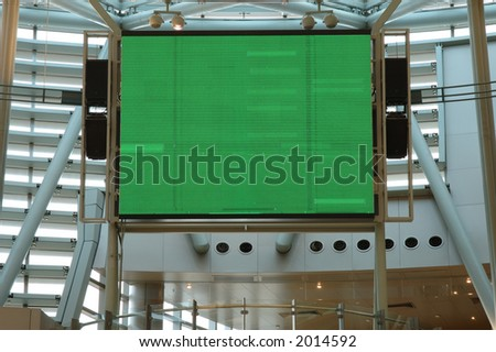 Large display screen in mall