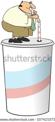 Large Drink - stock photo