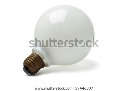 Large electric lightbulb isolated on white background