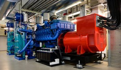 Large emergency diesel generator for a data center