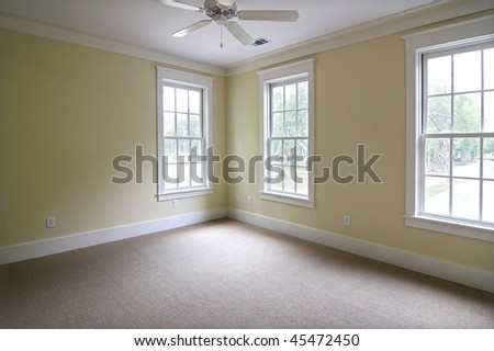large empty bedroom, place your own furniture