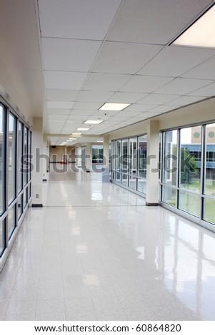 Large empty hallway