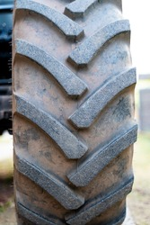 Large excavators tires with a lot of profile