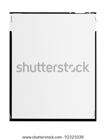 large format film, isolated on white