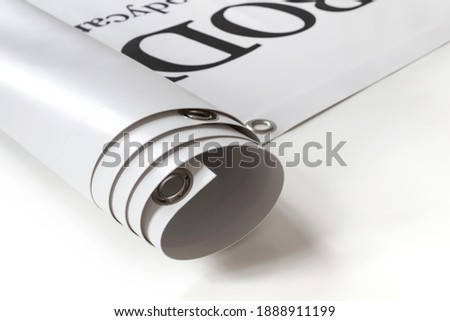 Large format print with hem