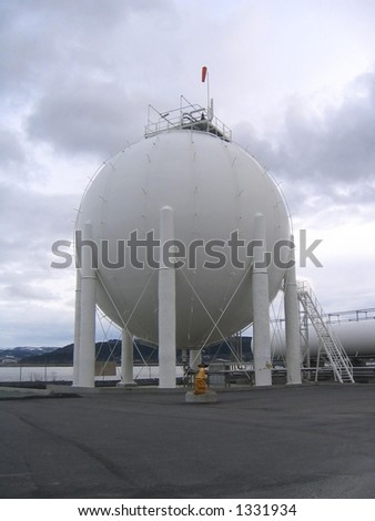 Large gas container - stock photo