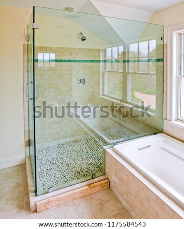 Large Glass Shower #1175584543