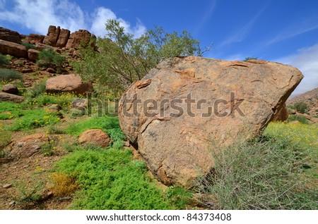 Large granite boulders, Brandberg mountain, Namibia