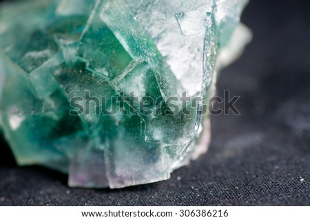large green blue fluorire mineral crystal sample, science