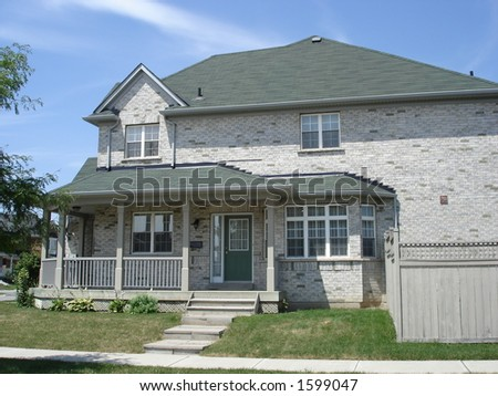 Grey Brick Homes http://www.shutterstock.com/pic-1599047/stock-photo-large-grey-brick-house.html