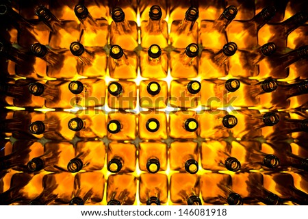 Large group of empty bottles. Foto stock ©