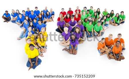 Large group of people of divers #735152209
