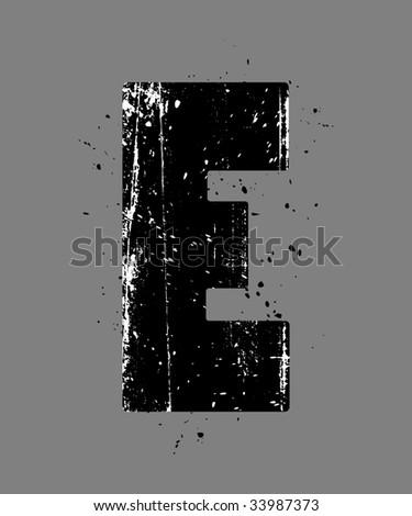letter e graffiti. tattoo Black Graffiti Letter E