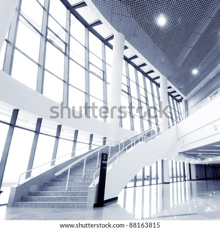 Large hall of modern industrial building