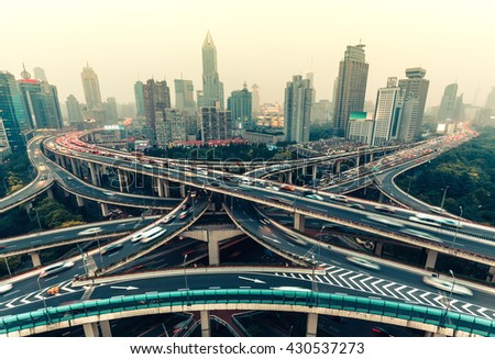 large highway junction in...