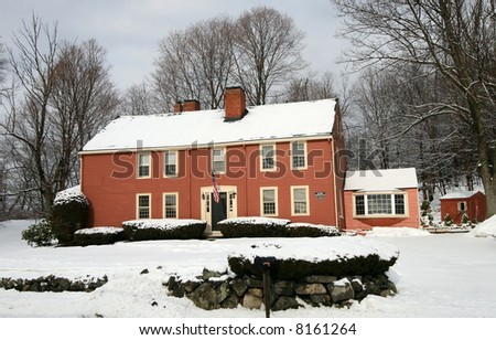 large home in winter