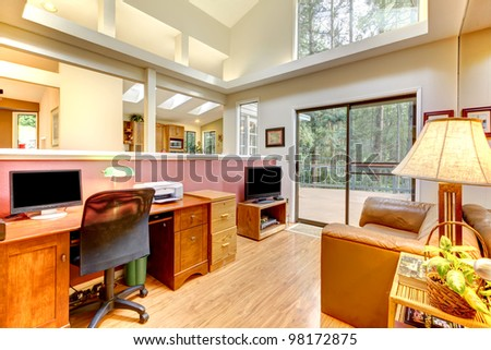 Large home office interior.