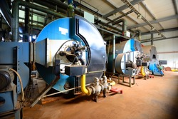 large industrial boiler room