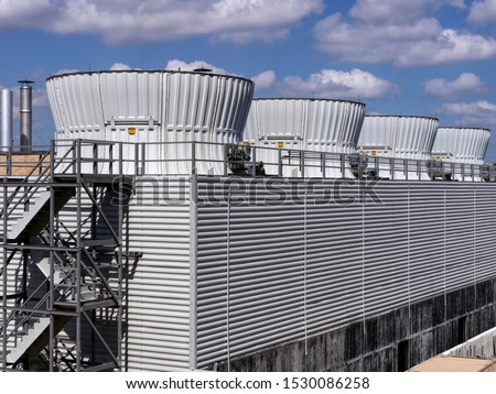 large industrial cooling towers for HVAC system Stock photo ©