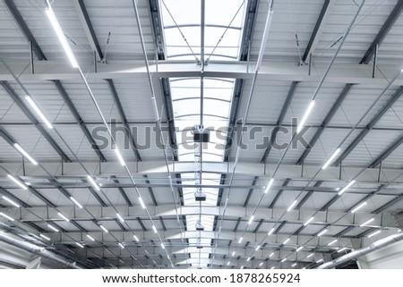 large industrial hall - transport warehouse - modern LED lighting Сток-фото ©