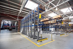 Large Industrial Warehouse of heavy iron and metal parts.