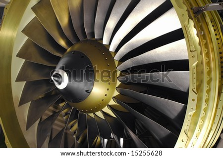 large jet engine turbine blades