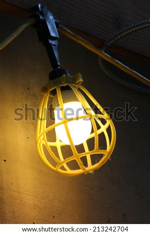 Large lamp in a work area