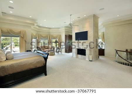 Large master bedroom in luxury home