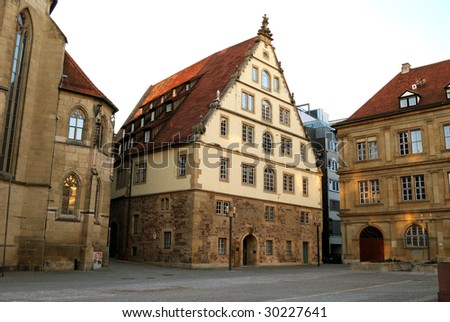 Large medieval house on market square in the center of for Big houses in germany