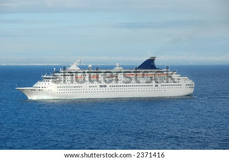 Large modern cruise ship