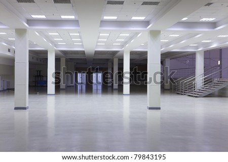 Large modern empty premises in some office building