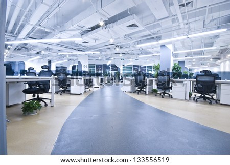 Large modern office, no one