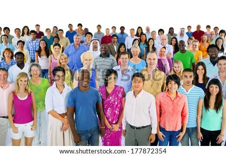 Large Multi-Ethnic Group of People Сток-фото ©