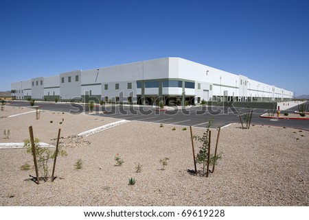 Large, New Distribution Warehouse Exterior