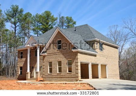 Large New Two Story House Construction