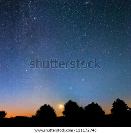 large night scene panorama