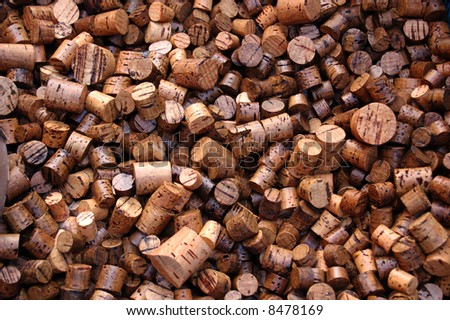 Large number of used wine corks. Good for background.