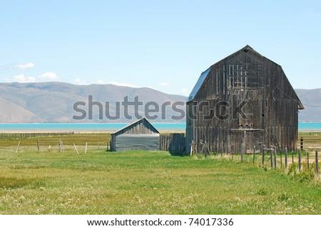 Large old barn near Bear Lake, Idaho.